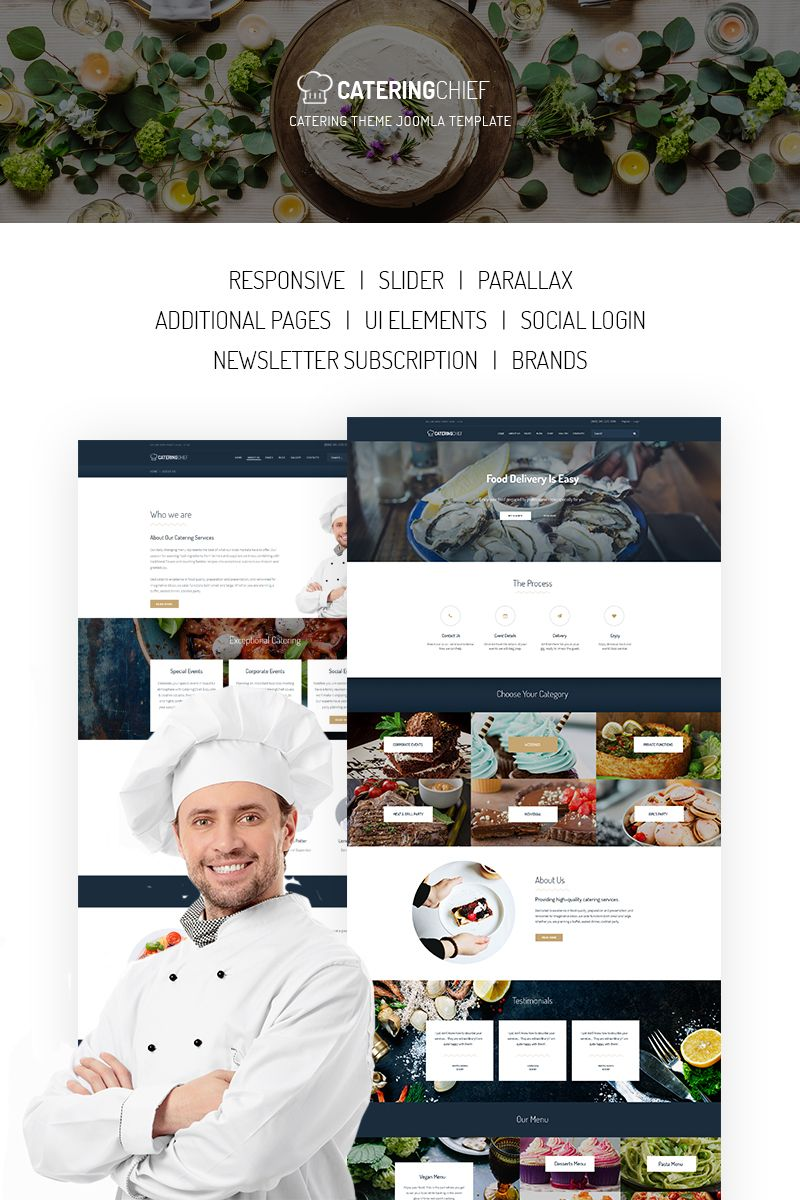 Catering Chief - Catering Joomla Template #67151