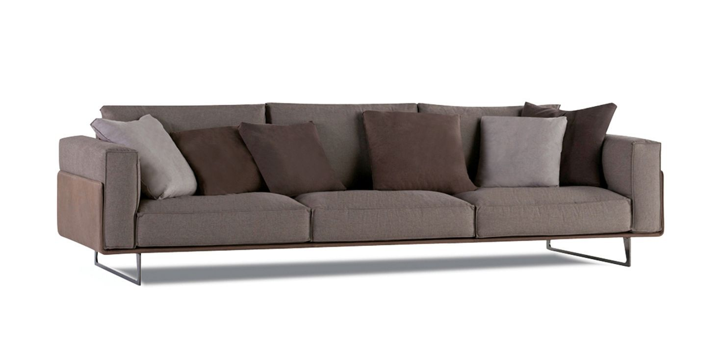 Canapé Nubuck Upholstered In European Natural Leather Collection Corrected