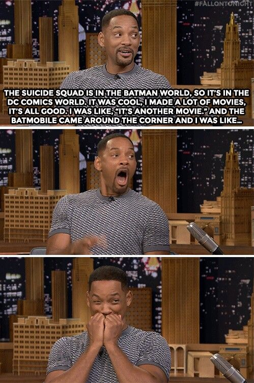 Will Smith on seeing the Batmobile