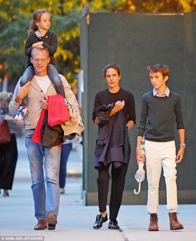 Family outing: Jennifer Connelly cradled a bandaged finger while going out for…