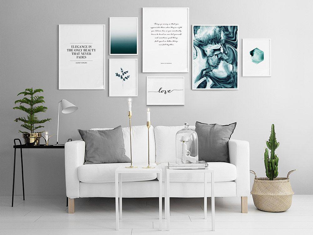 Tavelvagg Fran Desenio Se Poster Frames Gallery Wall Wall Decor