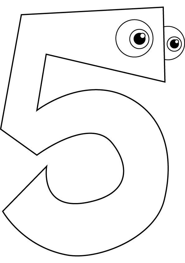 Cijfer 5 Kleurplaat Trein Groep 5 Wiskunde In De Kleuterklas Math Numbers