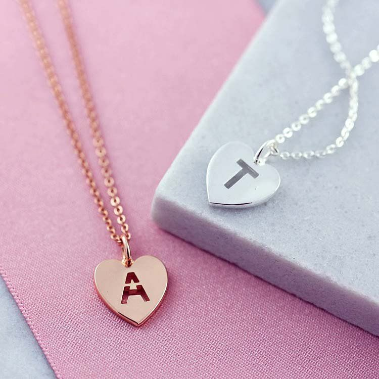 personalized bridesmaids gift initial necklace initial necklace gift ideas for her Name necklace Initial Necklace custom necklace