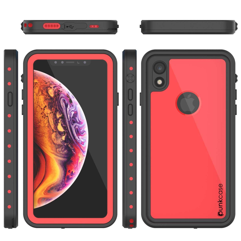 80885e814c0 iPhone XR Waterproof IP68 Case, Punkcase [Red] [StudStar Series ...
