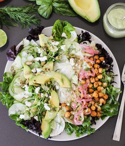green goddess power salad - healthy and good for you!!!
