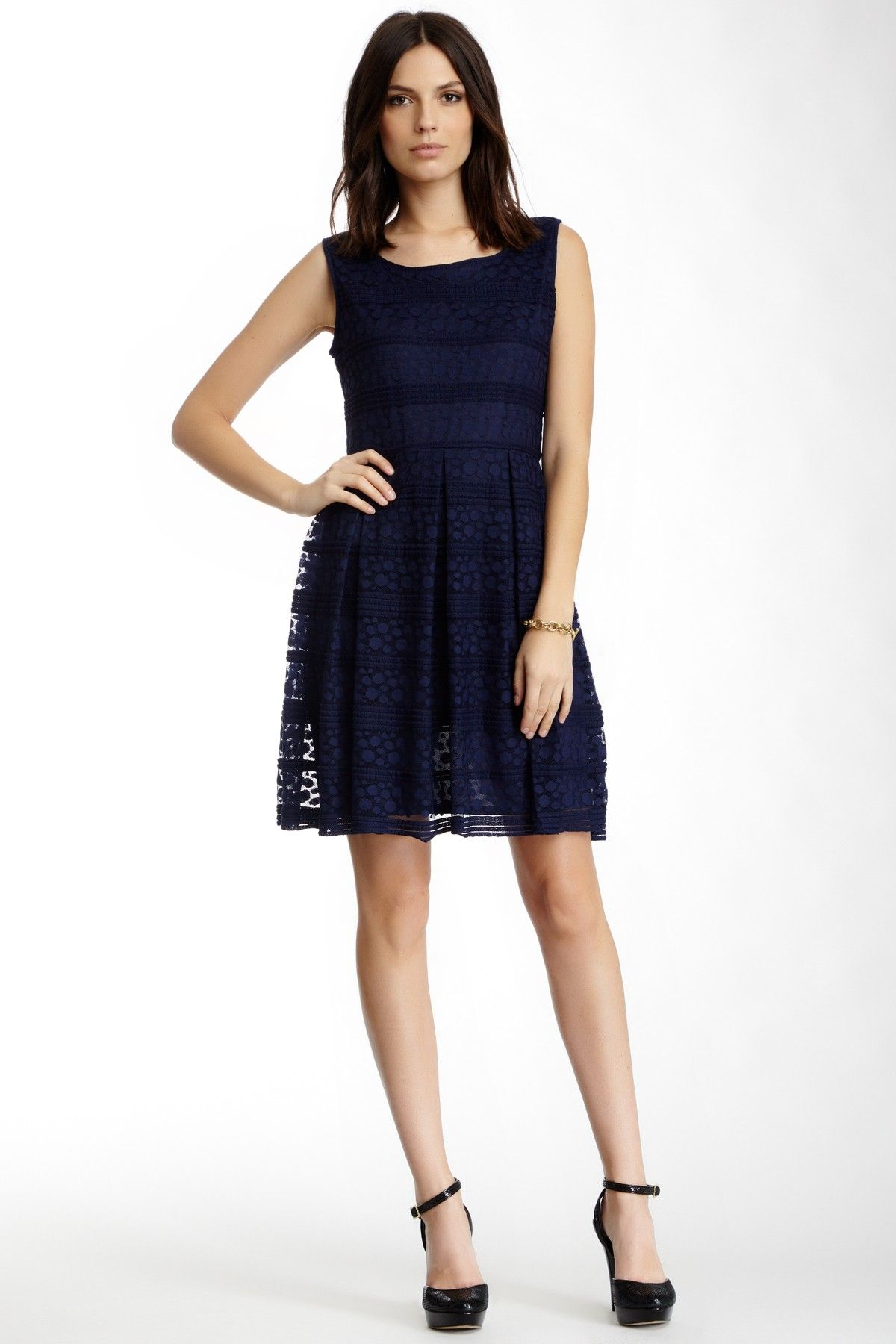 Max Studio | Max Studio Fit & Flare Lace Dress | Nordstrom Rack ...