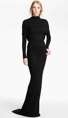L' Agence Drape Back Lamé Knit Gown Sz Medium | eBay