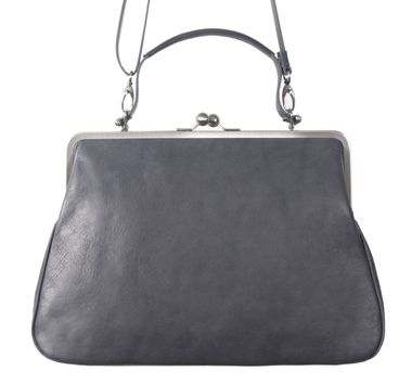 44706b1b7243c GRACE VOLKER LANG Handtasche Leder mit Bügelverschluss clipbag ...
