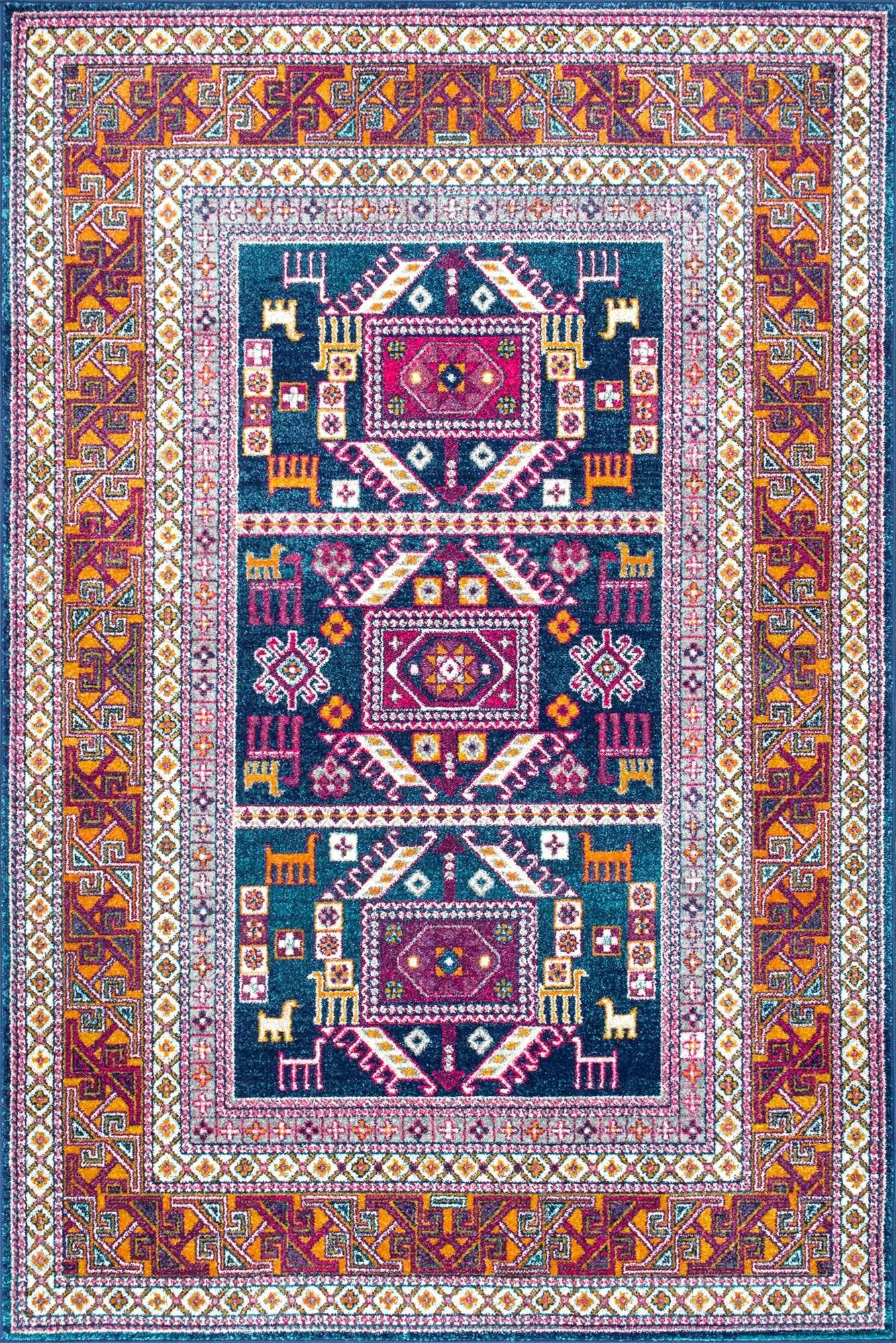 Bosphorus Bd48 Tecumseh Tribal Tale Triptych Rug This