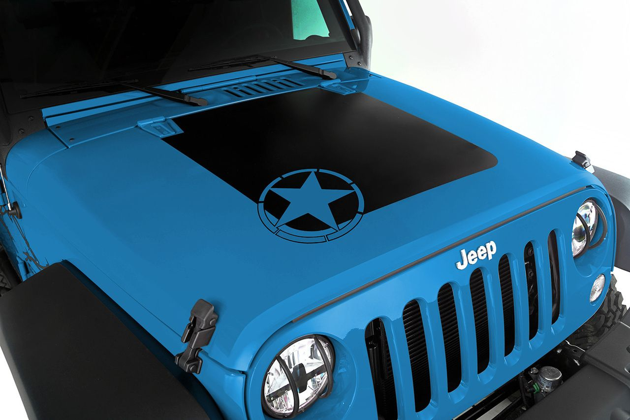 07 Jeep Wr Angler Headlight Wiring Hood Decal Star 16 Wrangler Jk Parts Crawltech Offroad