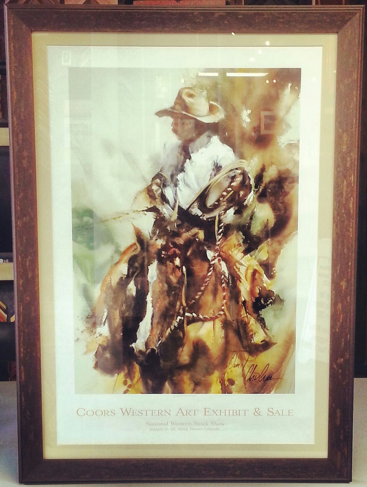 Custom framed +National Western Stock Show limited edition #Coors print. Custom framed by FastFrame of LoDo. Frame by @Larson-Juhl. #art #framing #denver #colorado #nwss