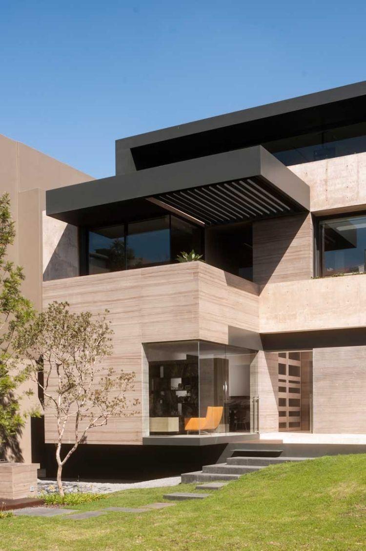 Architektur Modernes Einfamilienhaus Mit Schonem Offenen