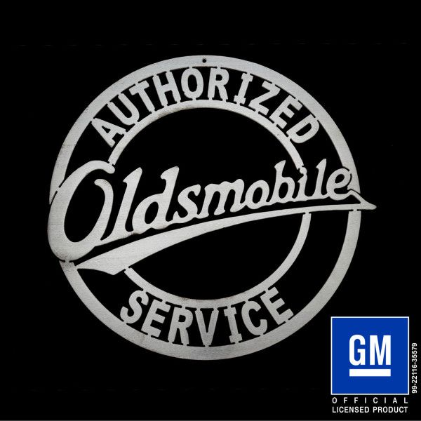 oldsmobile vintage style sign. cnc cut. #gm #oldsmobile