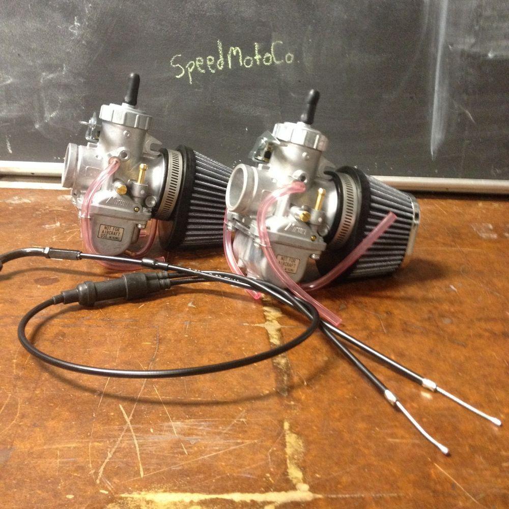 Honda cm400 cm450 cb400 cb450 30mm Carb Carburetor Kit Cables vm30 mikuni #SpeedMotoCo