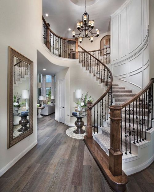 This Foyer By Village Builders Architecture And Home Decor Bedroom Bathroom Kitchen And Living Room House Design Staircase Design Dream Home Design