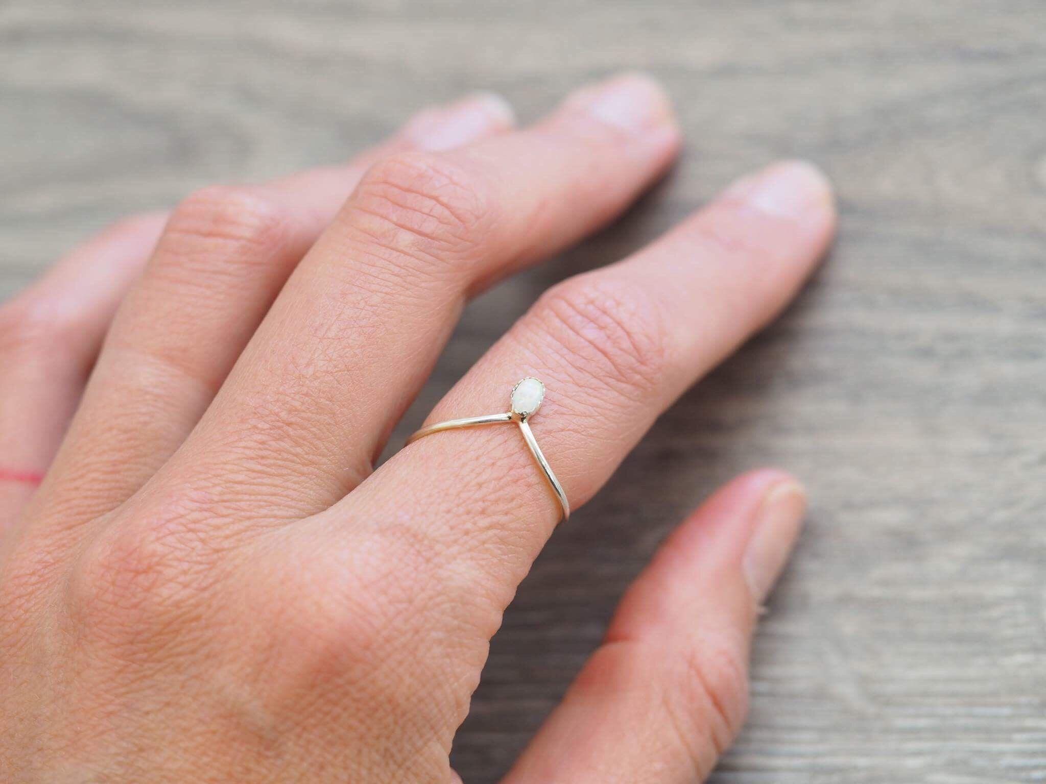 Dainty Opal Navajo Ring   Fashion<3   Pinterest   Navajo, Ring and ...