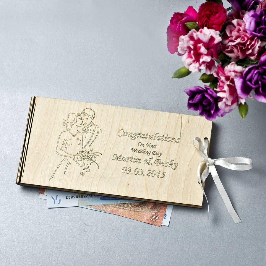 Personalised Wooden Money Wedding Gift Envelopes Wedding Gift Money Money Envelopes Gift Envelope
