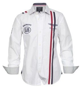 Hackett Aston Martin Racing Shirt - Characterised by Aston Martin Racing authentic logos and automotive-inspired insignia neat styling and exceptional design detailing are the hallmark of garments from the collaborate collection from Hackett and Aston Martin Racing. Product Reference: HK300153 £60.00
