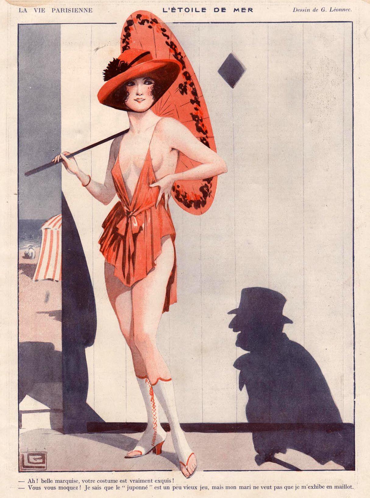 magazine 39 la vie parisienne 39 l 39 etoile de mer georges l onnec 1919 la vie parisienne. Black Bedroom Furniture Sets. Home Design Ideas
