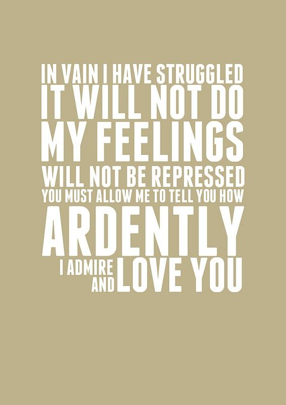 [sigh] Pride and Prejudice.  Site also has other free word art printables.