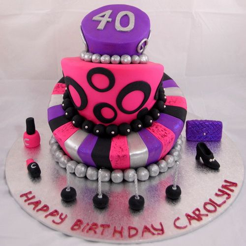 Pleasant 40Th Birthday Cakes For Women 40Th Birthday Cakes Price 40Th Personalised Birthday Cards Paralily Jamesorg