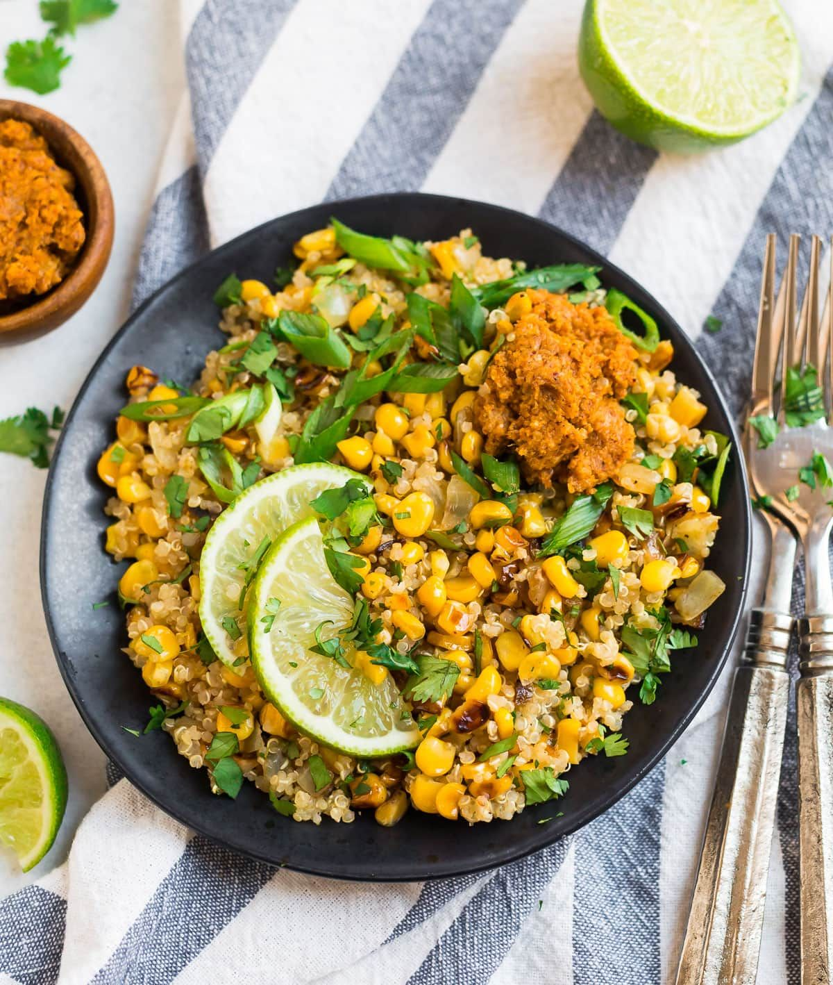 Healthy Mexican Street Corn Quinoa Salad This Tasty Side