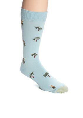 Gold Toe  Hula Girl Print Crew Socks - Single Pair