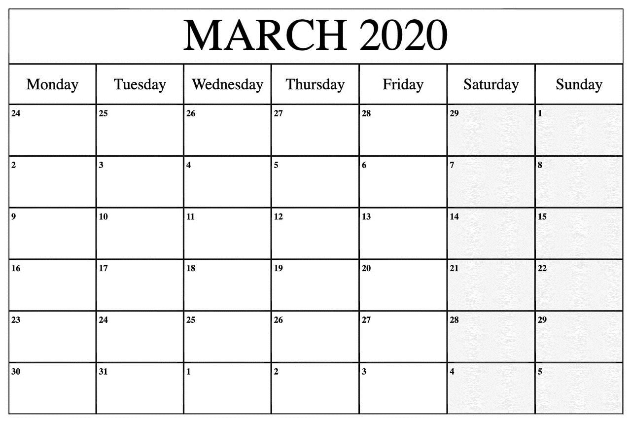 March 2020 Calendar Wallpaper For Office Free Printable Calendar Template In 2020 Printable Calendar Template Calendar Template Calendar Printables
