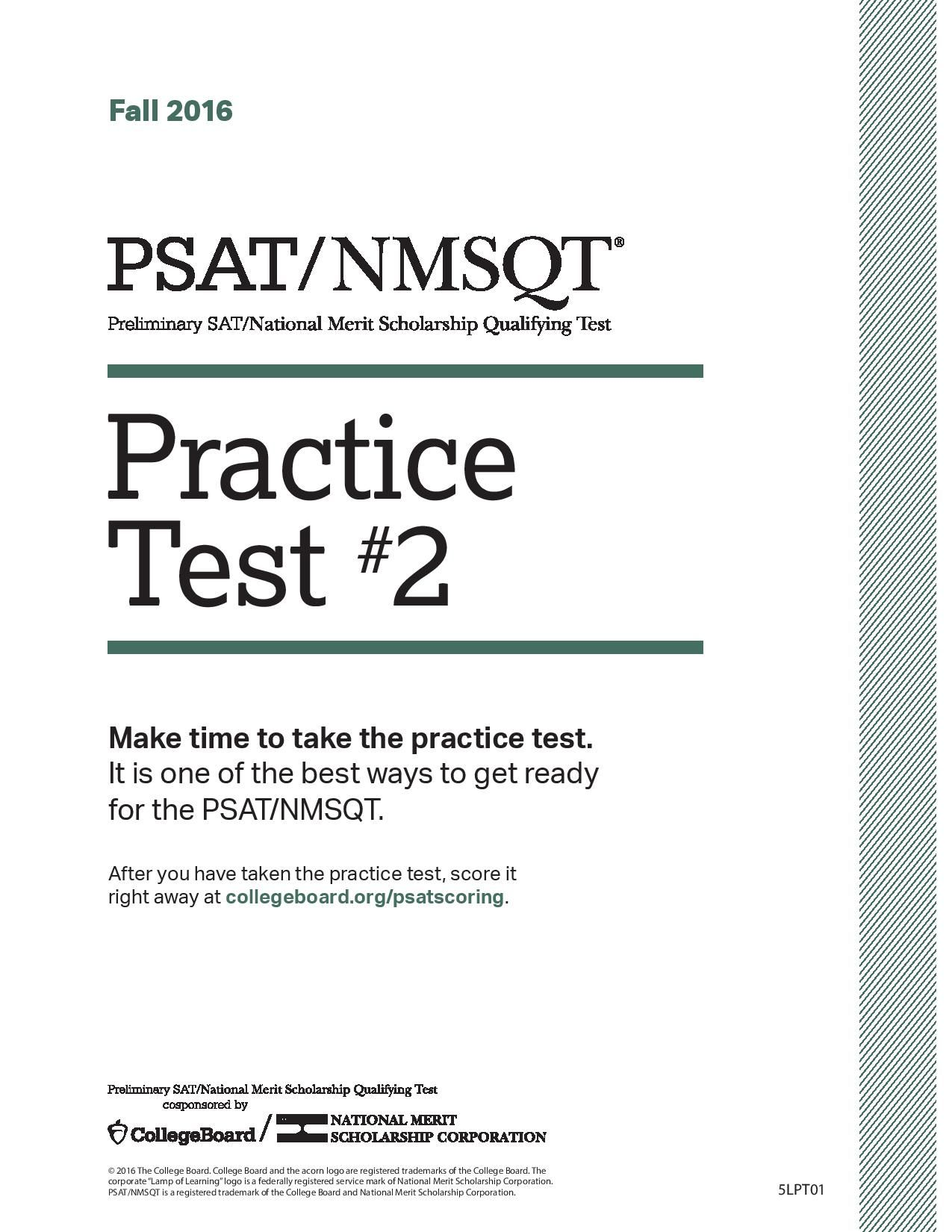 PSAT/NMSQT Practice #2: Click link for full download