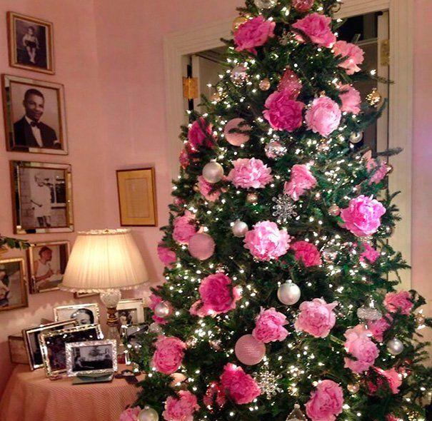 Veja Ideias De Arvores De Natal Decoradas Com Flores Enfeites De