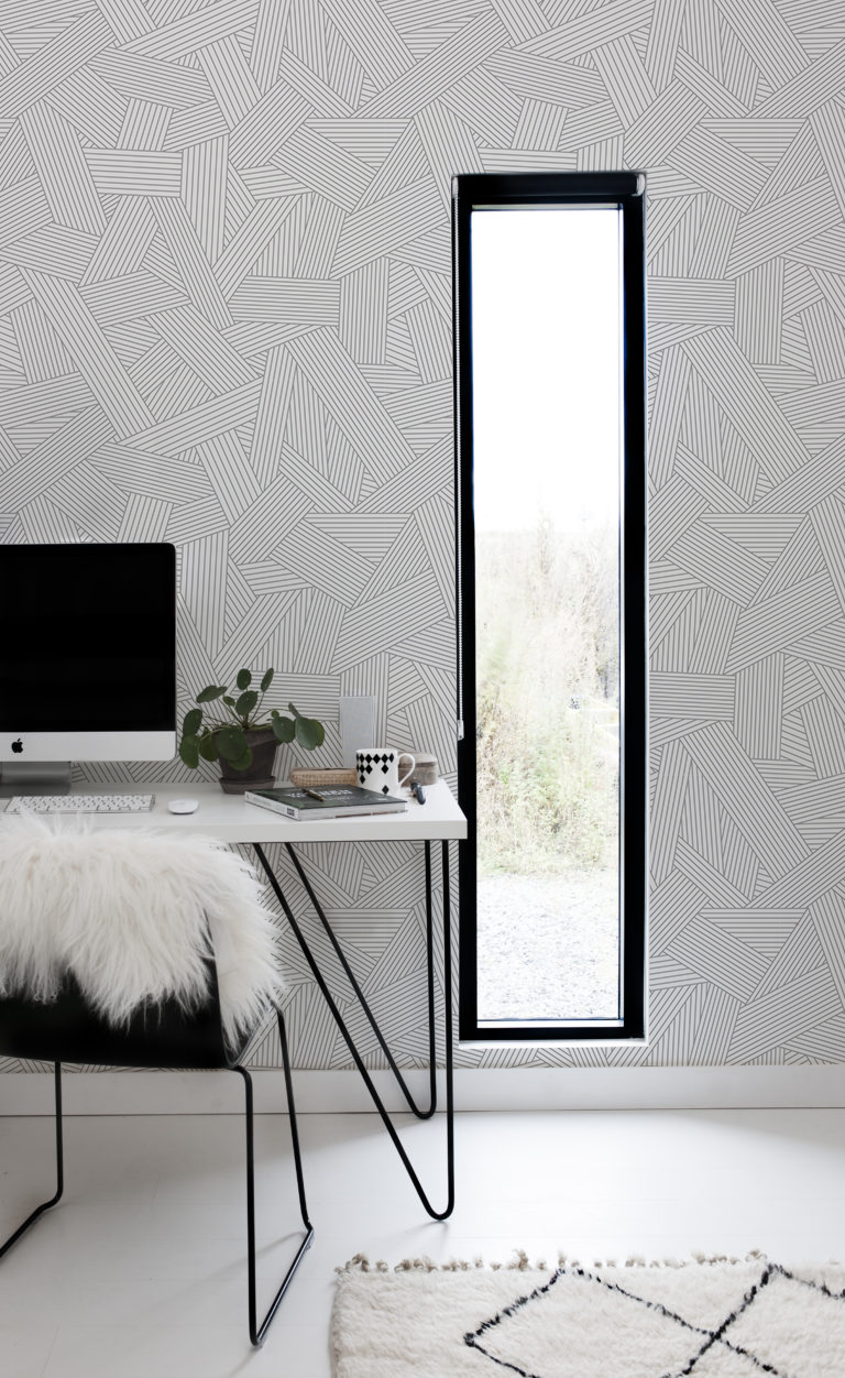 Pick Up Sticks Removable Wallpaper Peel And Stick Material That Sticks To Every Flat Surface Decorative Wallpaper W Grey And White Wallpaper Interior Decor