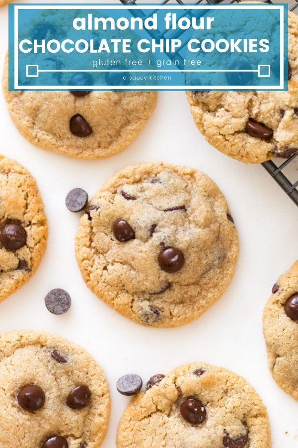 Almond Flour Chocolate Chip Cookies  soft and chewy chocolate chip cookies made undetectably gluten and grain free