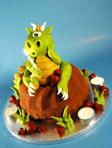 cute dragon themed cakes Boy cakes Pinterest Dragons Cake and