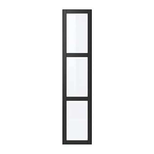 UNDREDAL Porte avec charnières, noir, verre Black glass, Doors and