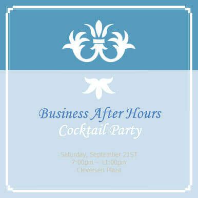 Free Invitation Template by Hloom Party Invitations - Formal Business Invitation
