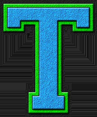 Presentation Alphabets Light Blue Kelly Green Varsity Letter T Varsity Letter Letter T Varsity