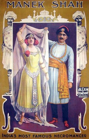 Manek Shah 1910 Magick Vintage Circus Posters Circus