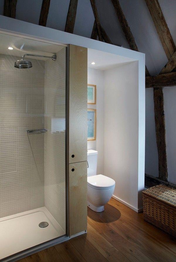 small bathroom attic bathroom shower toilet with bidet