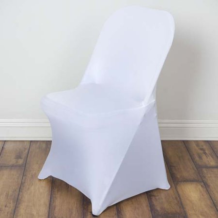 5pcs Stretchy Spandex Fitted Folding Chair Cover White Products