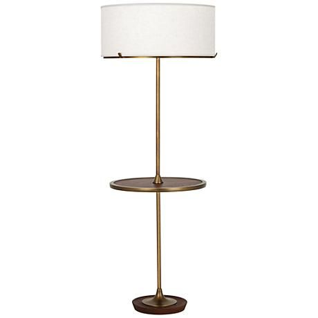 Table With Built In Lamp Glamorous With Its Handy Builtin Tray Table This Stunning Aged Brass Finish Inspiration Design