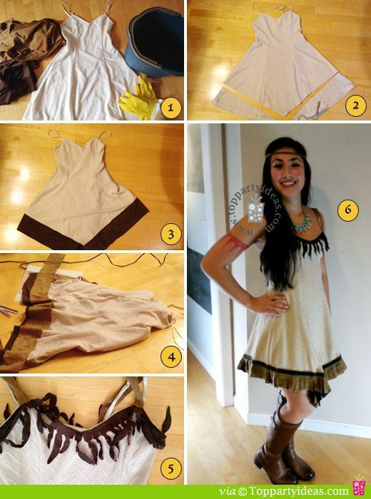 Diy Pocahontas Costume Easy No Sew DIY...