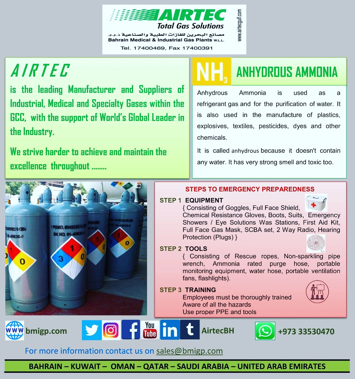 Anhydrous Ammonia Nh3 Welding Consumables Gas Medical