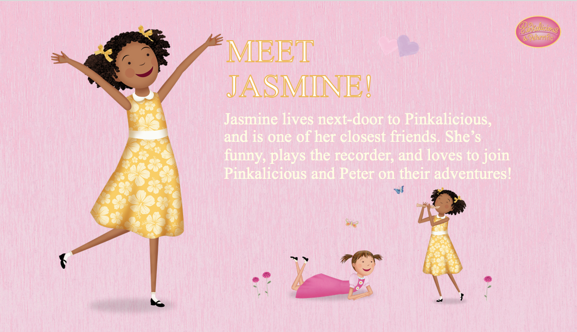 Meet Jasmine She Is A Great Friend To Pinkalicious She Is Voiced By Daia Johnson Pinkalicious Pbs Kids Great Friends