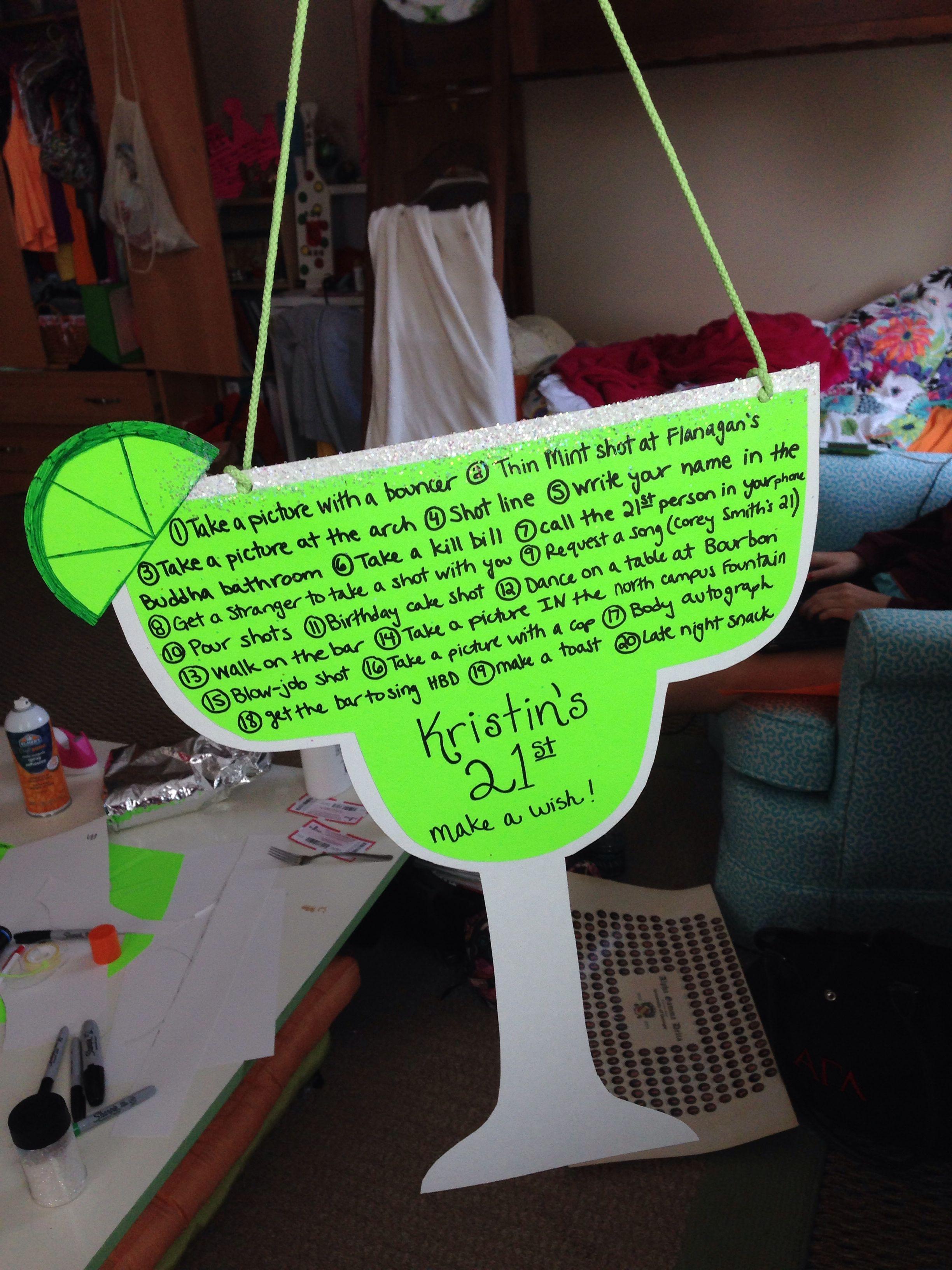 Kristin's 21st birthday sign! #21stbirthdaysigns Kristin's 21st birthday sign! #21stbirthdaysigns