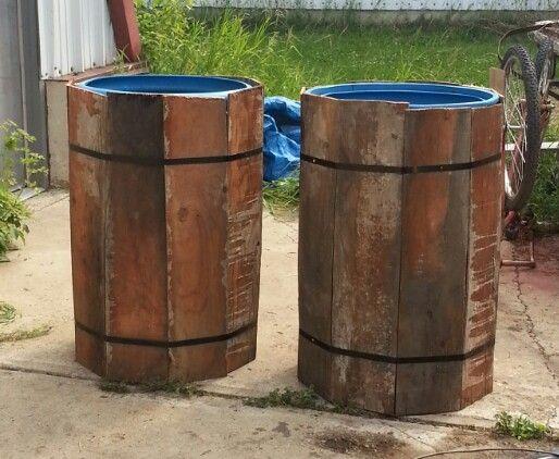 Wrap Plastic Barrels For Water Rain Barrels Diy Plastic Barrel Planter Rain Barrel