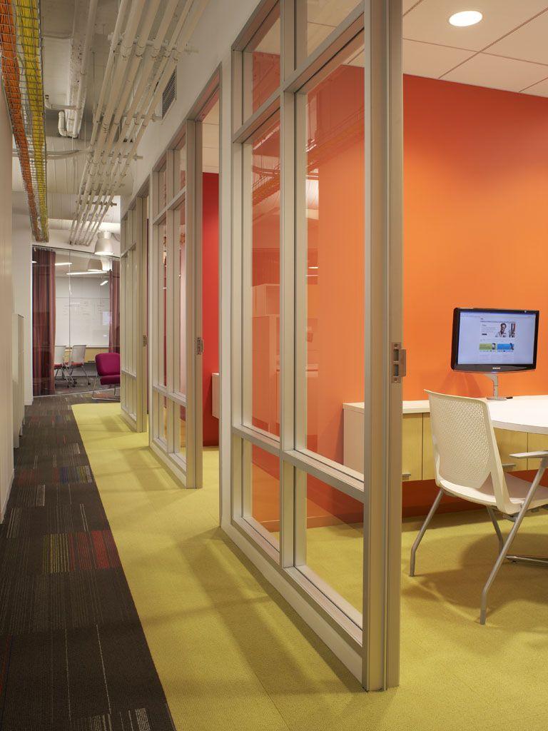 Corridor Design: Office Carpet Comes Out Into Corridor.