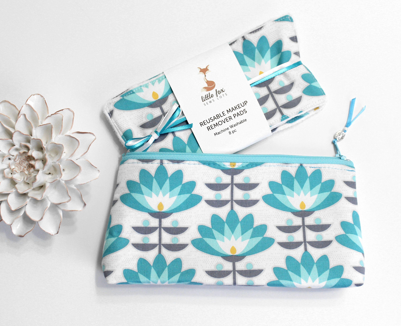 Lotus Flower Zero Waste Gift For Women, Reusable Makeup