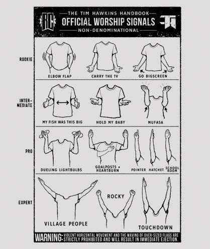 The Official Worship Signals Categorized By Rookie Through Expert