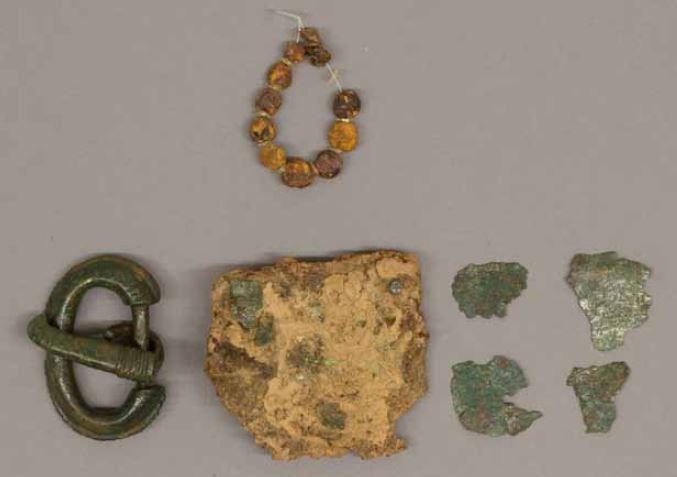 Oggetti dalla tomba 44 in Castiltierra. Objects from grave nr.44 in Castiltierra, Spain.