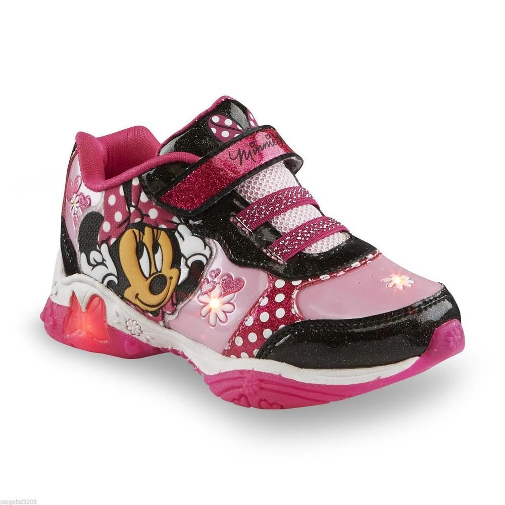 minnie mouse bowtique sneaker shoes girl toddler size 9 pink girls light up  nib from  14.99 098ce21c08a